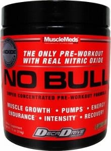 Musclemeds NO BULL Nitric Oxide Pre Workout Supplement